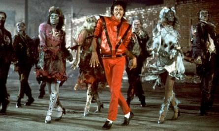 Michael Jackson in music video Thriller