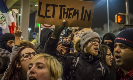 Image result for trump travel ban protests