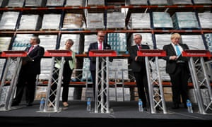 Vote Leave Campaigners Deliver Speeches On The Risks Of Remain