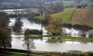 The River Windrush overflowed near Burford in the Cotswolds recently.