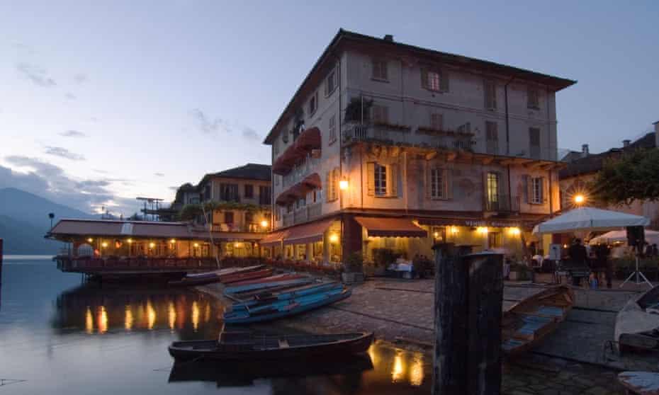 A restaurant in Orta San Giulio.