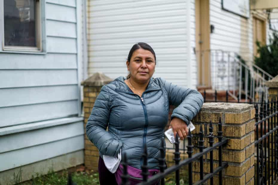 Ciria Santiago at her home in Corona, Queens, New York: 'It's not just me. It's the community that is going through this difficult situation.'