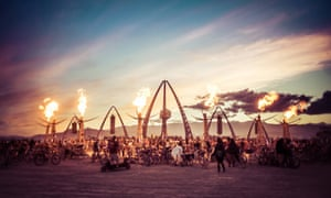 The White Ocean camp at the Burning Man festival