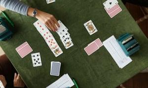 Card players play Bridge