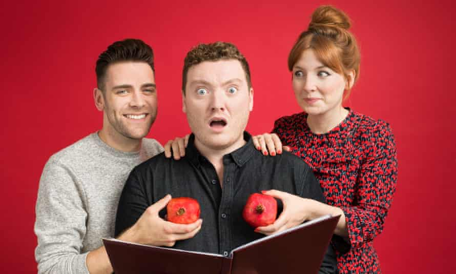 My Dad Wrote A Porno's Alice Levine (right), Jamie Morton and James Cooper