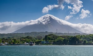 Concepción volcano on Ometepe island, as seen from Lake Nicaragua