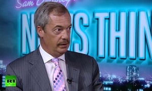 Nigel Farage sporting a moustache on Russia Today in August 2016
