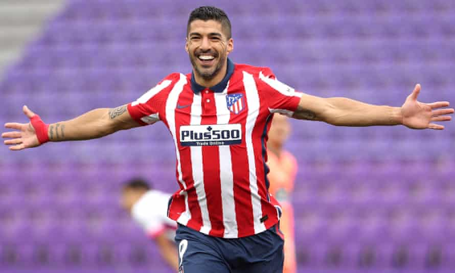 Luis Suárez scored the winner as Atlético Madrid fought back from a goal down.