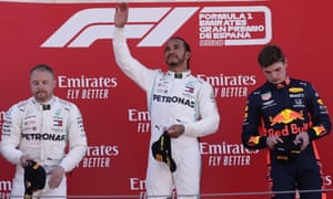 Hamilton, Bottas and Verstappen on the podium in Barcelona