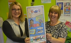 Karla Edgecombe, family liaison officer at Gors Community primary, and Carol Ward, TAF coordinator