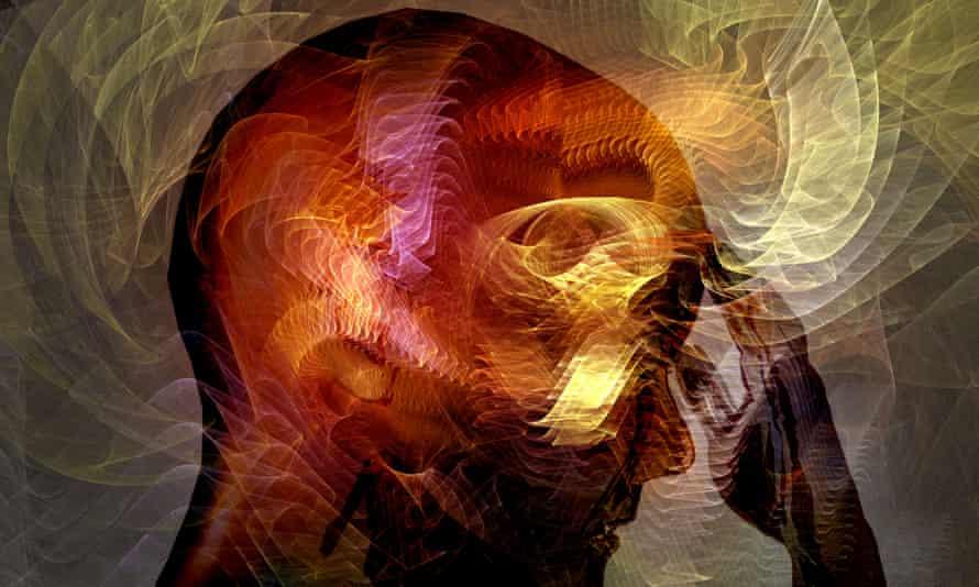 Colourful illustration of a human head