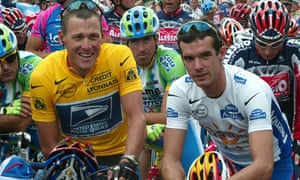 Lance Armstrong (left) of theUS Postal team and his Cofidis rival David Millar wait for the start of the first stage of the 2002 Tour de France in Luxembourg.