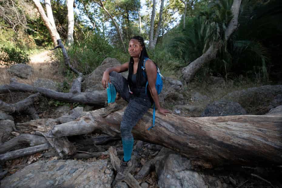 Tiffany Tharpe in Temescal Canyon, Los Angeles.