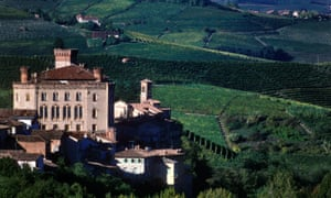 Perfect Piedmont: vineyards around Barolo Castle.