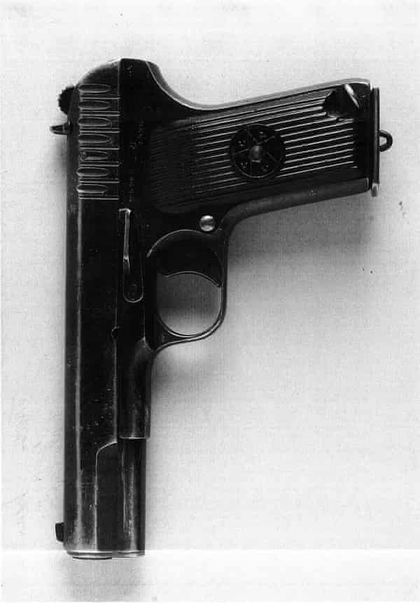 The gun used to kill Naji Salim Hussain al-Ali.