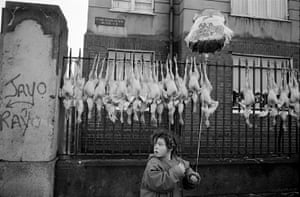 Christmas Turkey Market, Mary's Lane, Dublin 1991Every day life in both mundane the markets and bus journeys — with political/religious