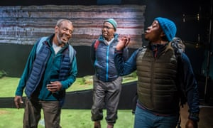 'How long do we have to be here to be English?' … Tyrone Huggins, Trevor Laird and Tonderai Munyevu in Black Men Walking.