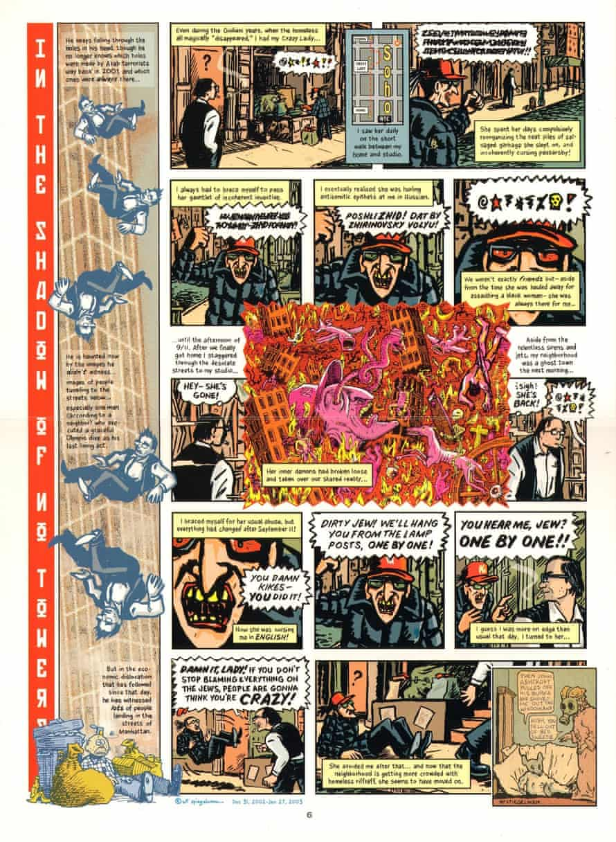 A page from Art Spiegelman's In the Shadow of No Towers.