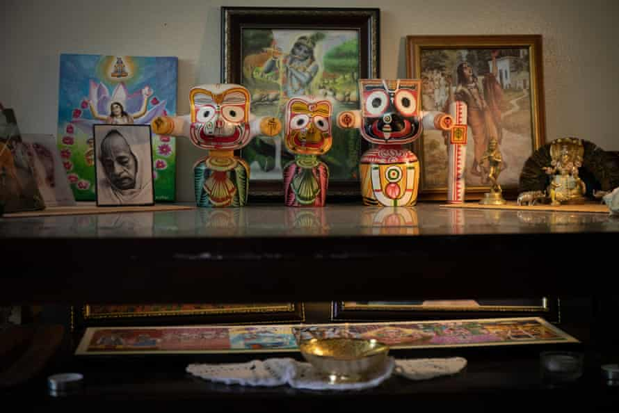 A shrine in the home of Visakha Dasi