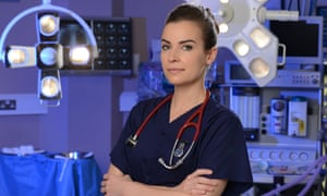 Dr Zosia March, played by Camilla Arfwedson, on the set of Holby City.