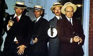 Warren Oates, Harry Dean Stanton, Geoffrey Lewis and John P Ryan in Dillinger, 1973
