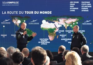 Solar Impulse founders and pilots André Borschberg and Bertrand Piccard