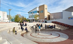The piazza at Warwick University.
