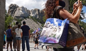 Donald Trump is due to attend a fireworks display at Mount Rushmore in South Dakota on Friday night.