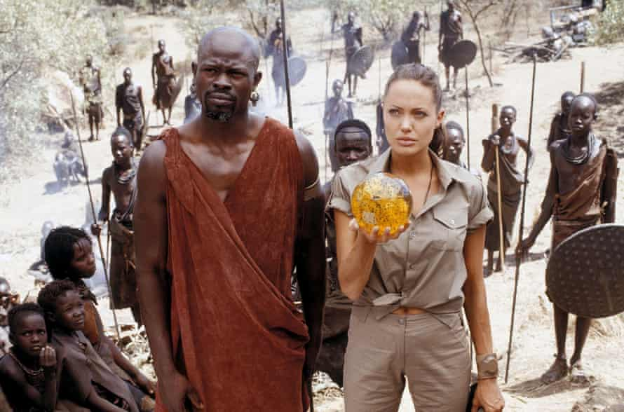 New depth … Angelina Jolie with Djimon Hounsou in The Cradle of Life.