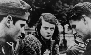 Sophie Scholl with her brother, Hans, and fellow activist Christoph Probst.