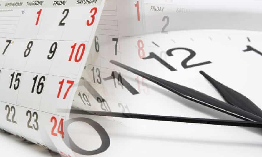 A clock and a calendar