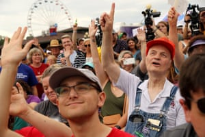 'I love the theatrics': meet the tourists traveling to see the 2020 el...