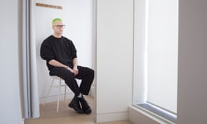 Cambridge Analytica whistleblower Christopher Wylie photographed at Swedish fashion chain H&M on New Oxford Street, London