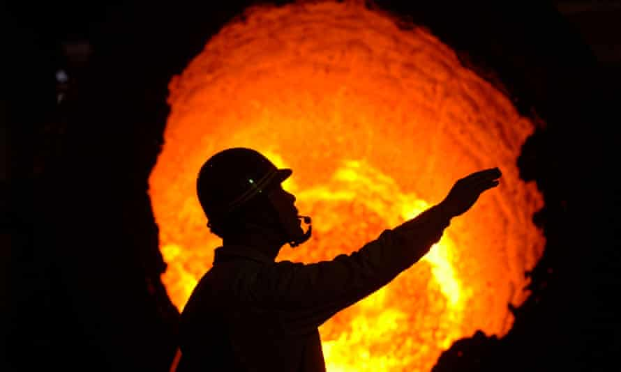 A steel manufacturing plant