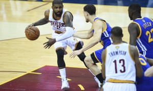 Kyrie Irving takes on the Warriors early in Game 6