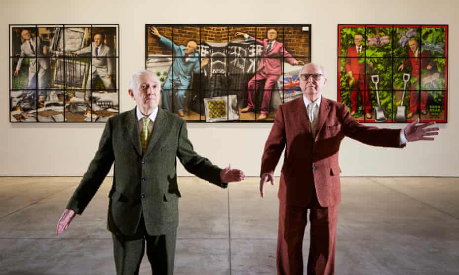 Gilbert and George unveil their New Normal Pictures.