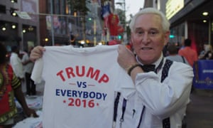 Getting Shirty: political consultant and lobbyist Roger Stone.