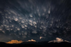 Landscapes category winner: Mammatus Clouds Over the Dolomites