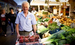 Greengrocer Robin Blair in Darlington