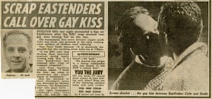 How the Sun covered the story of the EastEnders gay kiss in 1989