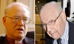 George Carey, the former archbishop of Canterbury (left),  and Peter Ball the former Bishop of Gloucester.