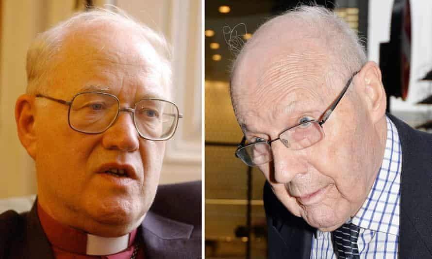 Lord Carey, left, and former bishop Peter Ball, who was jailed in October 2015.
