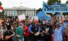 Indigenous activists march in Washington to demand action on climate crisis – live thumbnail
