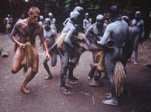 In Papua New Guinea in 2002 undergoing part of a six-week initiation ceremony