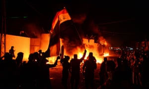 'It's personal here': southern Iraq ablaze as protests rage | World news | The Guardian