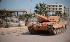 Turkish tank in Afrin, Syria