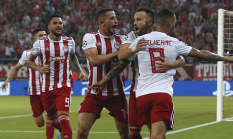 Mathieu Valbuena penalty crowns Olympiakos recovery to deny Spurs