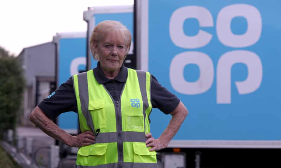 Barbara French, 75, who has worked at the Co-op in Plymouth for almost four decades.