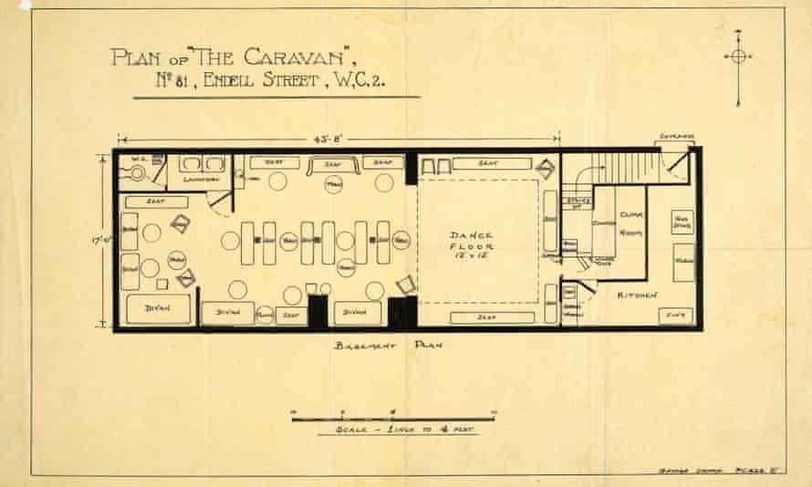 Police sketch plan of the Caravan Club.