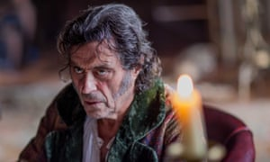 Ian McShane as Sir Roger Scatcherd in Doctor Thorne.